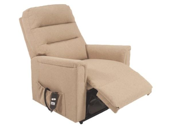Riser Recliner - Duke - Light Taupe - reclined