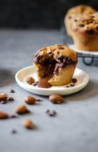 Muffin aux pépites de chocolat coeur coulant