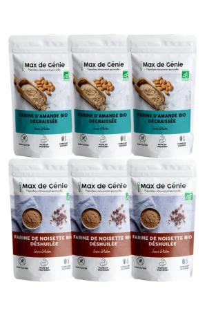 Pack farines : farine d'amande et farine de noisette