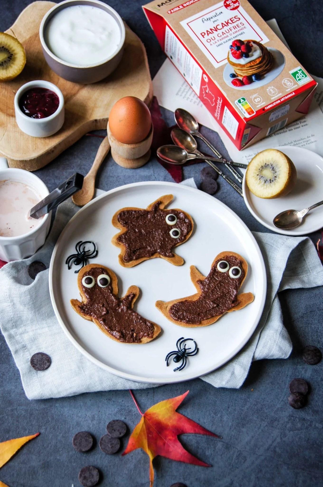 Pancakes fantômes d'Halloween