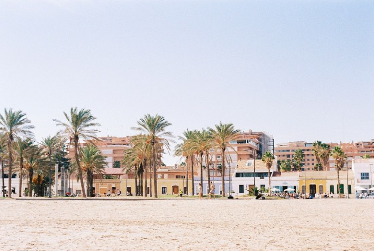Beach Front in Valencia, Spain by Maxeen Kim Photography