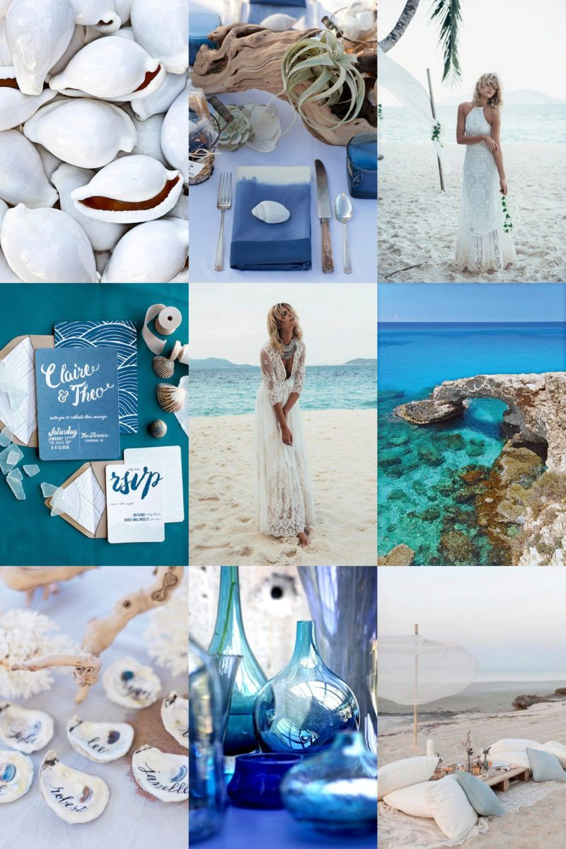 Beach Blue Inspiration Board, Maxeen Kim Photography, Wedding Inspiration