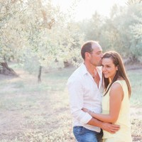 Sunset Italian Engagement in an Olive Grove by Maxeen Kim Photography, Luxury Greek and UK Wedding Photographer