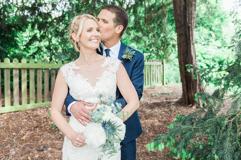 Couple in the Gardens During Their Belair House Wedding