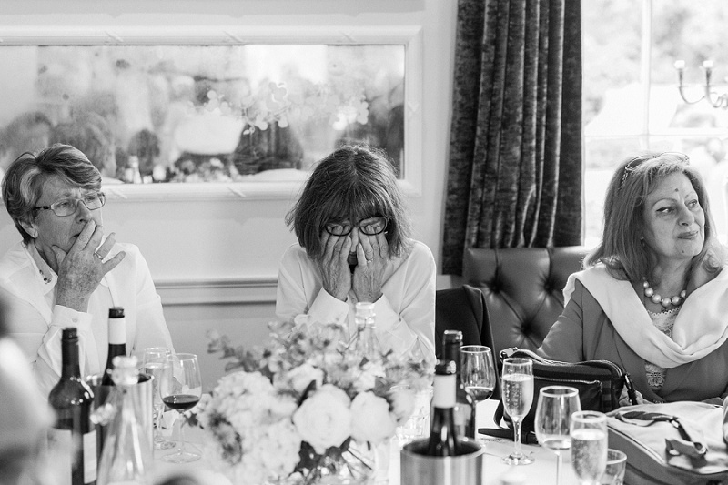 Mother Of The Groom Tearing Up During Speeches