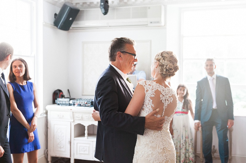 Bride with Her Dad During The Father Daughter Dance