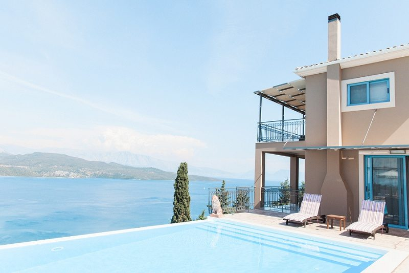 Beautiful Views From The Pool At Thea Resort in Lefkada