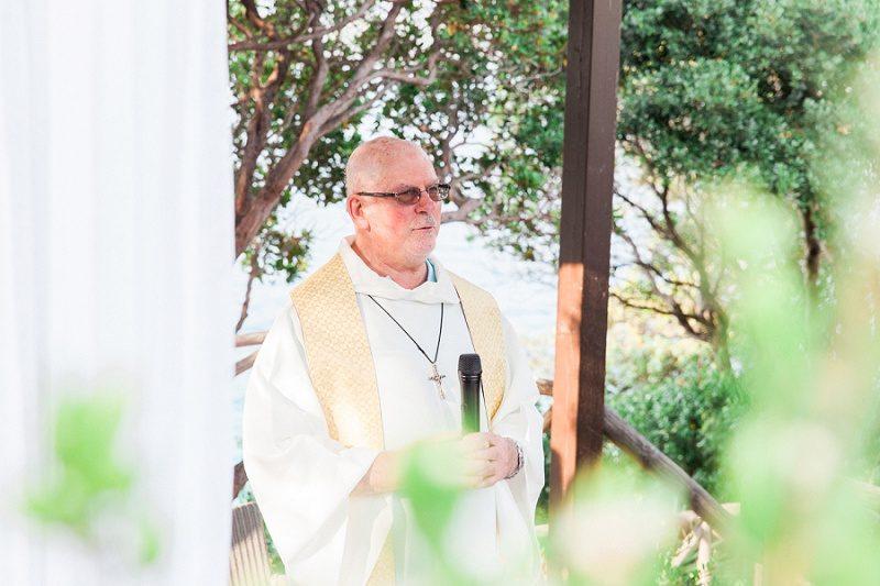 Priest at the Bohemian Garden Wedding