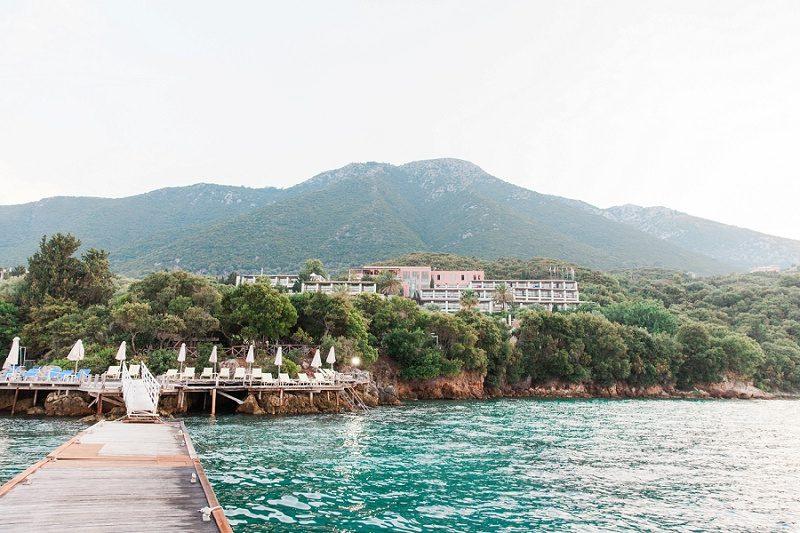 The Jetty and Beautiful Ionian Blue Hotel on Lefkada Greece