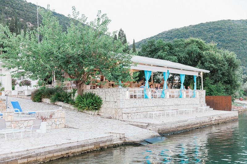 Seaside Restaurant in Geni on Lefkada in Greece