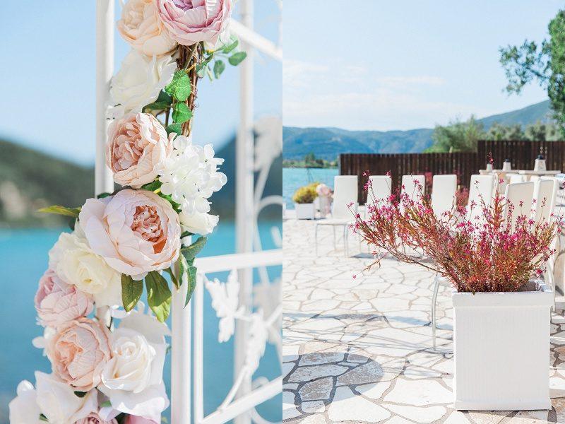 Pink Vintage Wedding Ceremony Details
