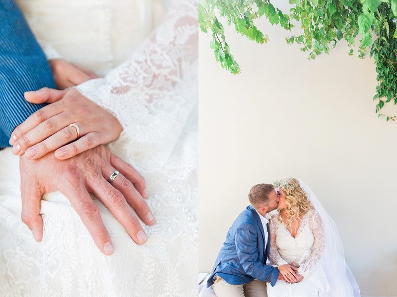 Romantic Images of Couple and Rings at SeaSide Restaurant