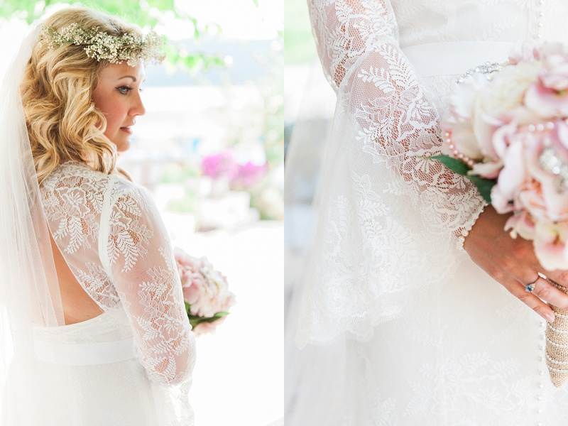 Brides Beautiful Lace Dress Details
