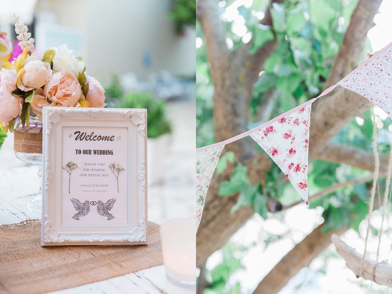Vintage Wedding Decor Details at SeaSide Restaurant in Geni Lefkada
