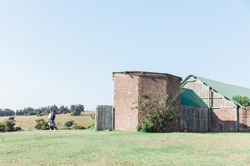 Bagpiper at the Church at Lake Eland Game Reserve
