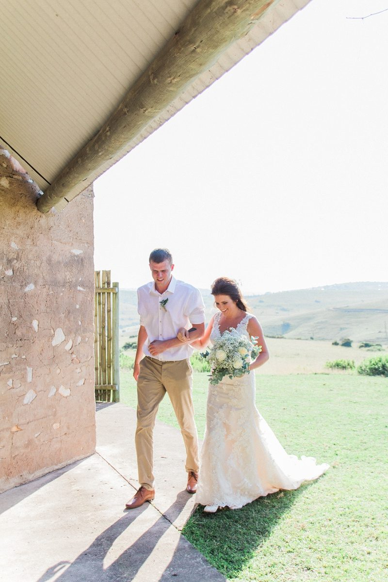 Bride Walking Down the Aisle at Lake Eland Game Reserve