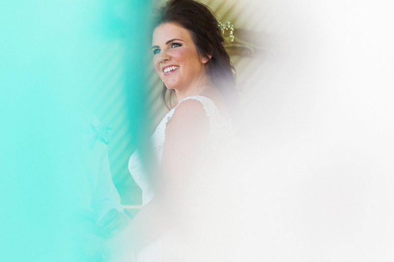 Beautiful Bride at Her Pistachio and White Wedding