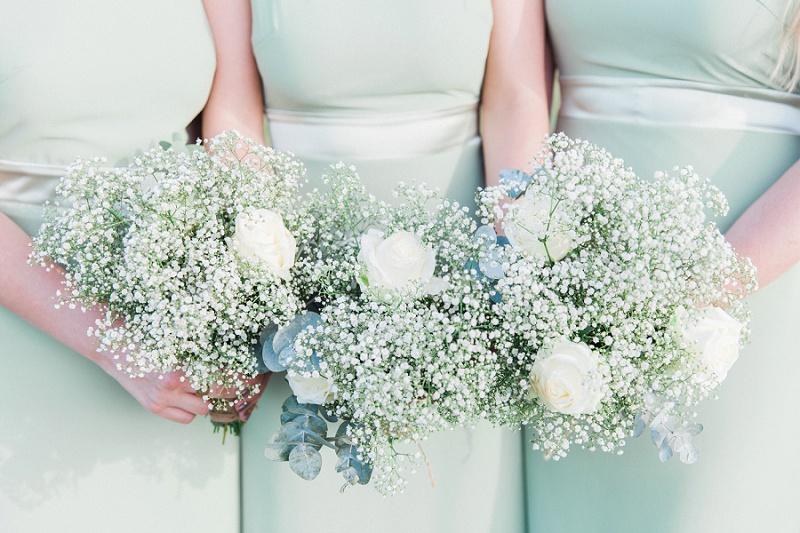 Eucalyptus and Rose Bridesmaids Bouquets