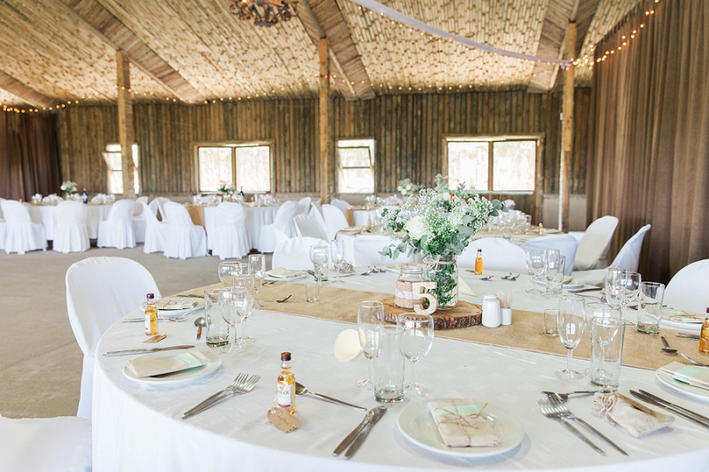Reception Room for Andrew and Steph's Pistachio and White Wedding