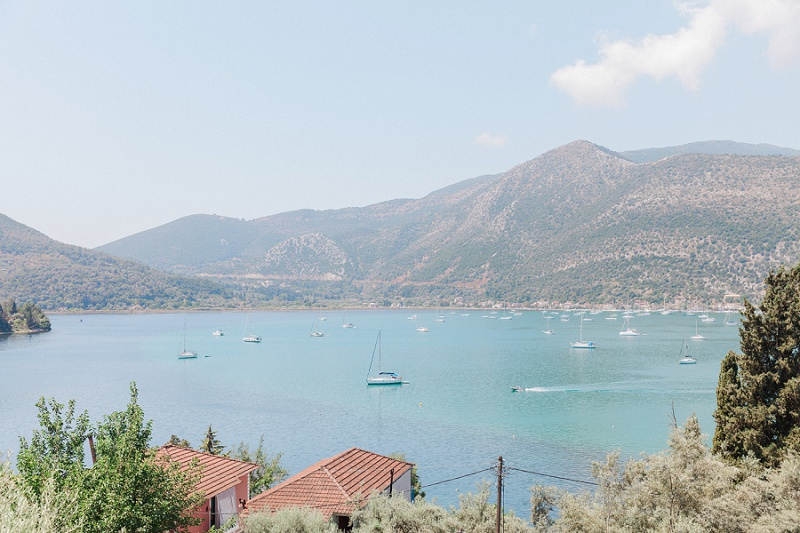 View of the bay in Geni from the brides villa