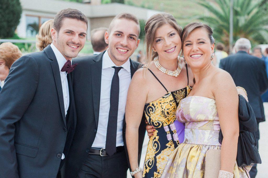 Wedding guests at the Convivium Hotel in Vasto
