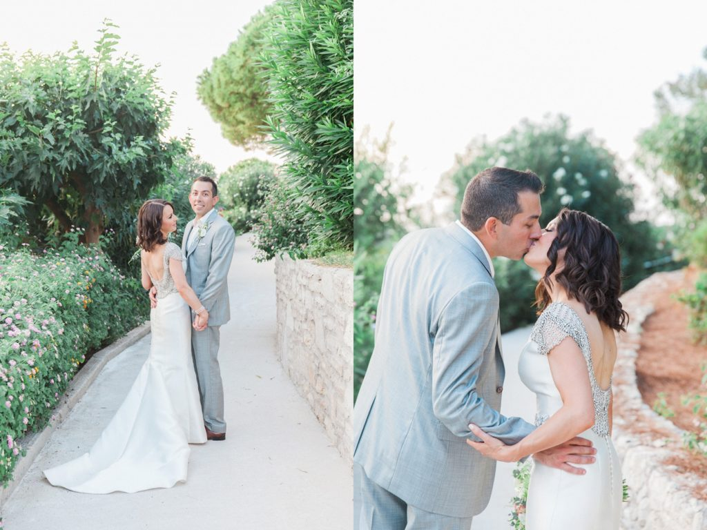Bride and groom during their destination wedding in Sivota Greece
