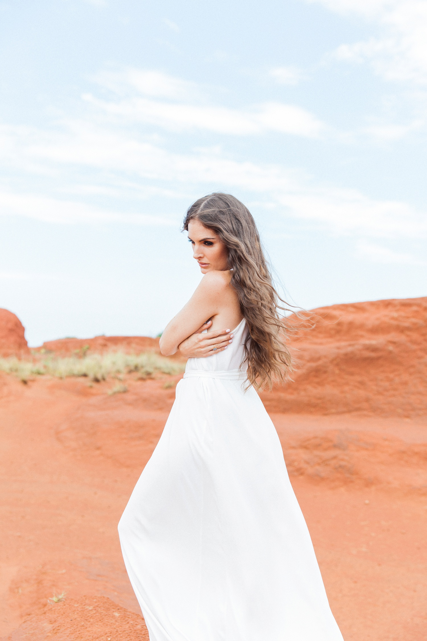 Bohemian Red Desert Wedding Editorial in South Africa