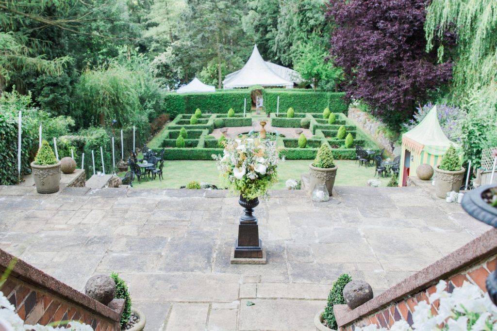 Manicured gardens at a private residence in Leicestershire