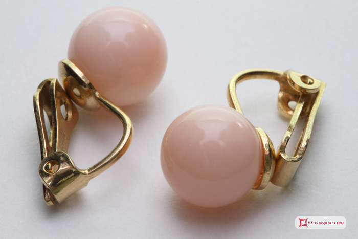 Pink Coral MISU earrings 100% natural - light tone