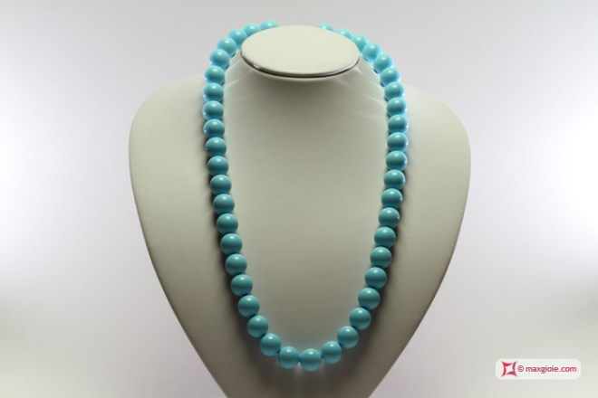 Extra Turquoise Necklace 14mm in Gold 18K