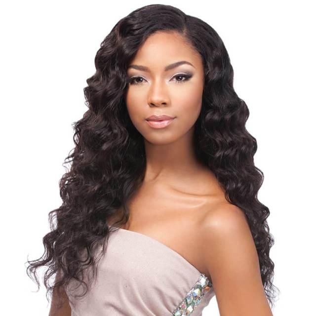 black long wig | brazilian hair | loose wave hairstyles | human hair | 8a premium | black hair | 24 inch - maxglam