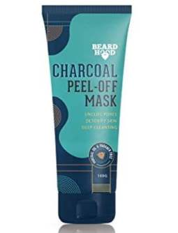 Beardhood Activated Charcoal Peel Off Mask. The best face mask for men.
