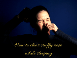how to clear stuffy nose while sleeping