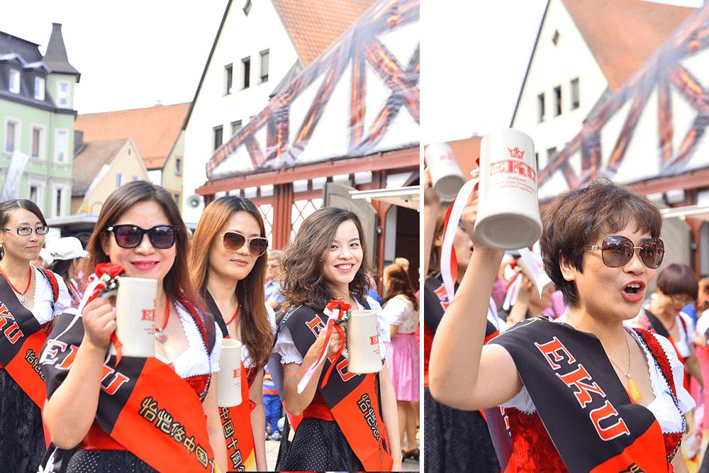 Kulmbacher Bierwoche Bierfest Fanumzug reichardt lehmann Zejmon eku kapuziner m%C3%B6nchshof fanclub shanghaiinternationale g%C3%A4ste china usa amerika franken kulmbach - Kulmbacher Bierwoche Fanumzug 2015