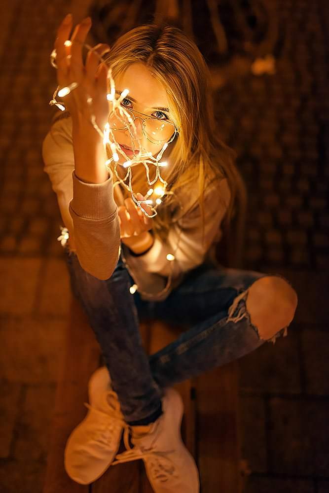 Fotoshooting Streetfotografie Fotograf fotostudio werbefotograf Medienagentur Fotokurs Workshop Profifotograf max hoerath kulmbach langgasse fussgaengerzone - Lichterketten Shooting I mit Selina
