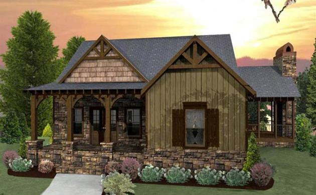 3 Bedroom Craftsman Cottage House Plan with Porches craftsman cottage house plans