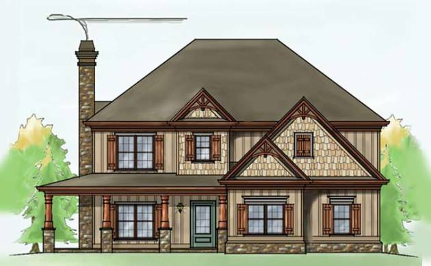 Two story four bedroom House Plan with garage two story four bedroom house plans