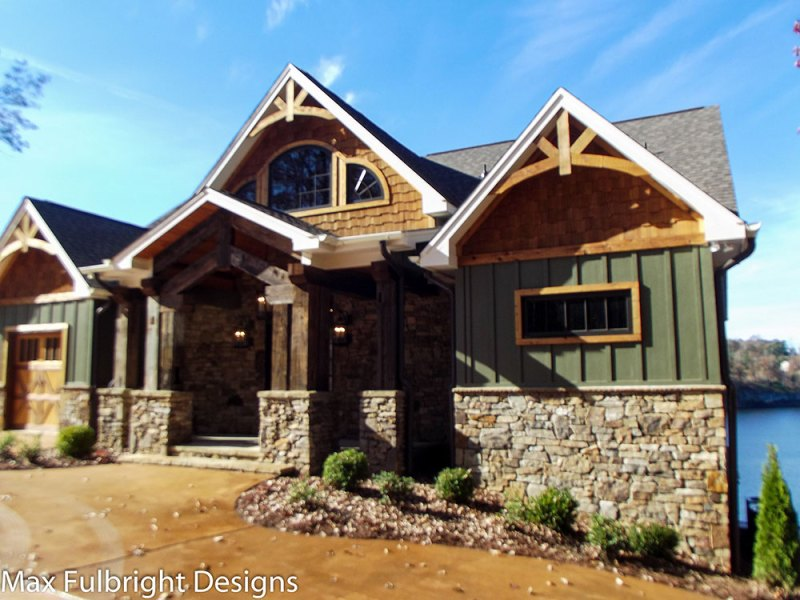 3 Story Open Mountain House Floor Plan   Asheville Mountain House craftsman lake house plans ashville mountain