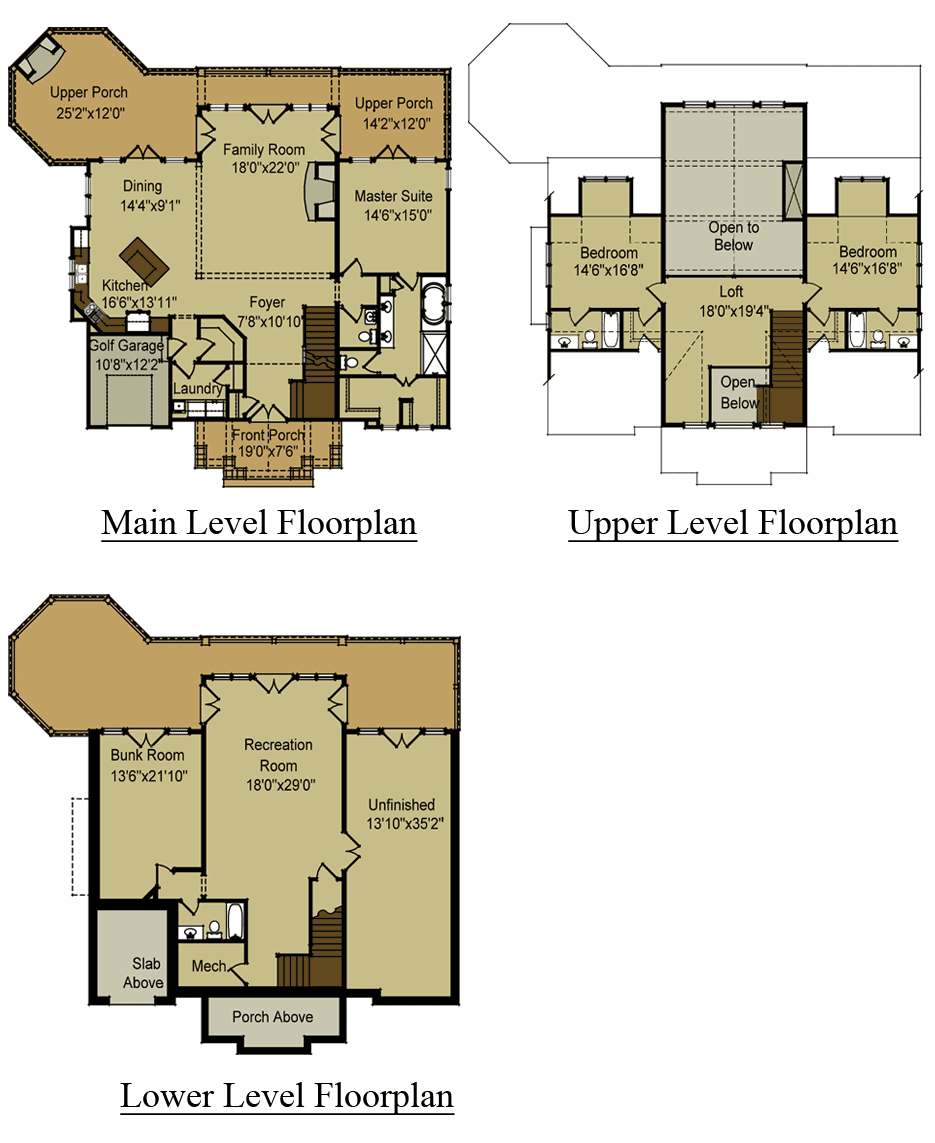 Mountain House Floor Plans