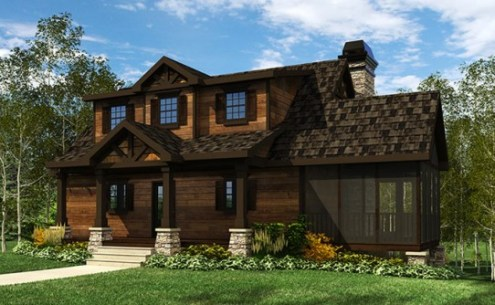Lake House Plans   Specializing in lake home floor plans small cottage house plan screened porch acadia