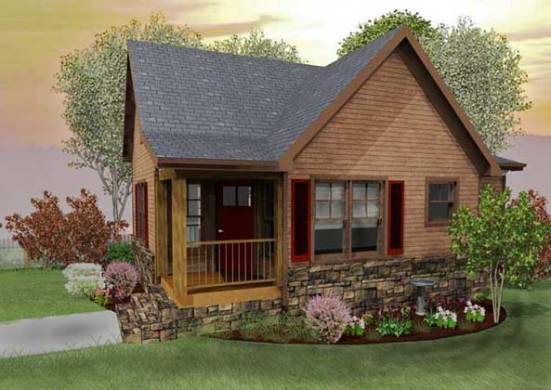 Small Cabin Designs with Loft   Small Cabin Floor Plans     Plans    Black Mountain Cottage  rustic small cabin design floor plan