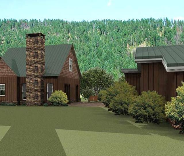 Small Cabin Guest House Plan Design Cook Cottage
