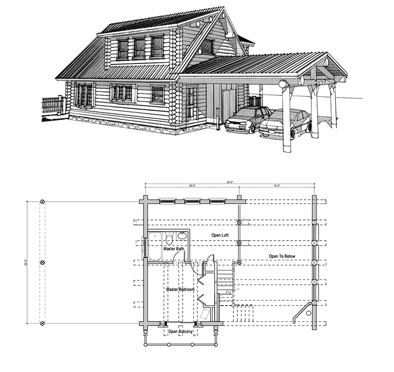 How To Build Cabin Plan With A Loft Plans Woodworking