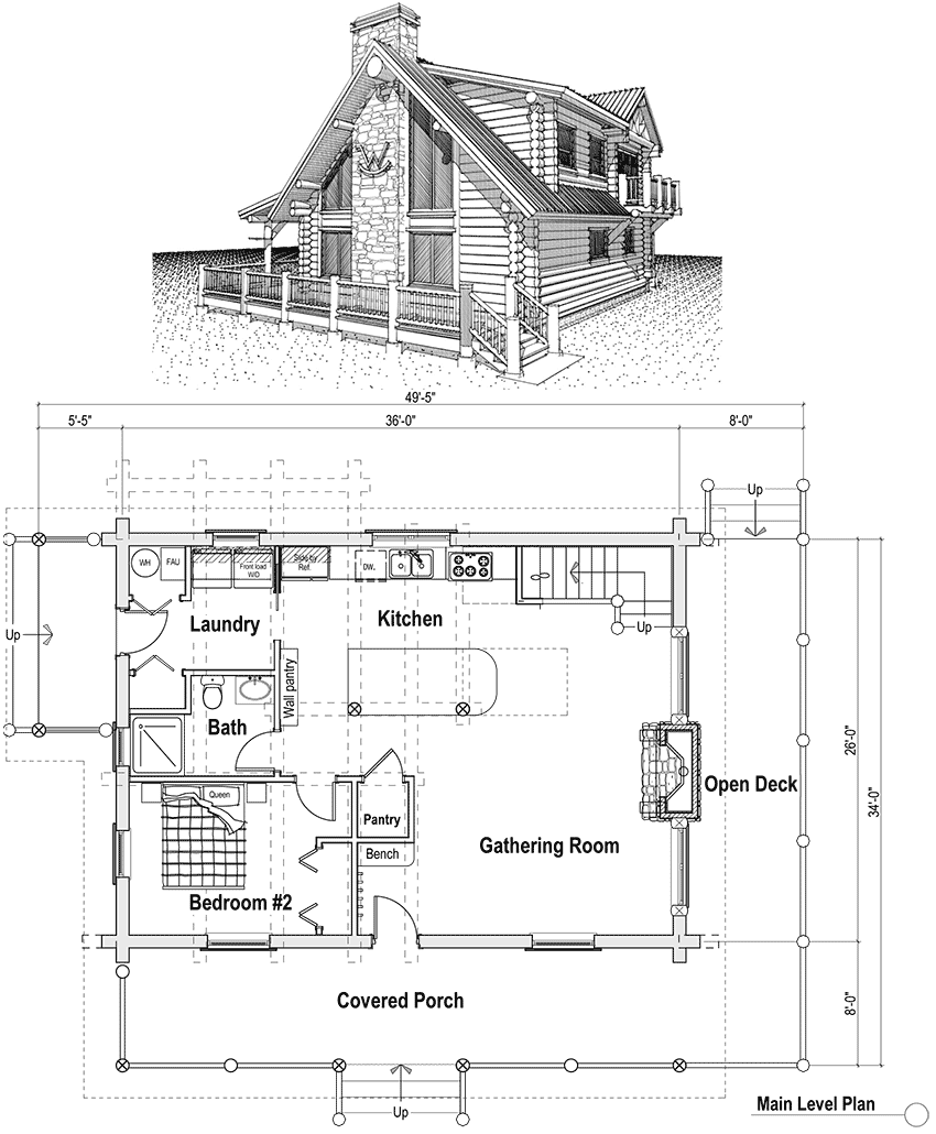 4 Bedroom Cabin Plans With Loft. log home furthermore log ...