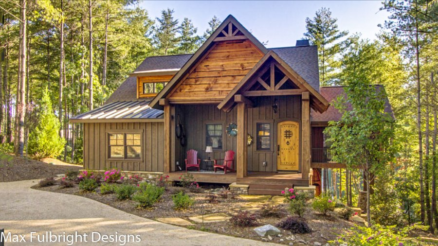 Small Cabin Home Plan with Open Living Floor Plan blowing rock cottage rustic mountain house plan