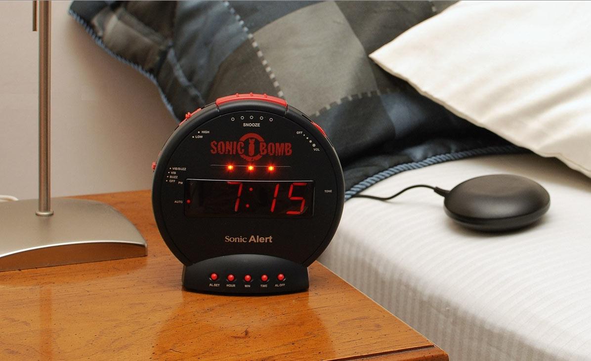 ILY-450 LY45 Loud Alarm Clock Sonic//Boom//Bomb//Alert Bed Vibrating Shaker