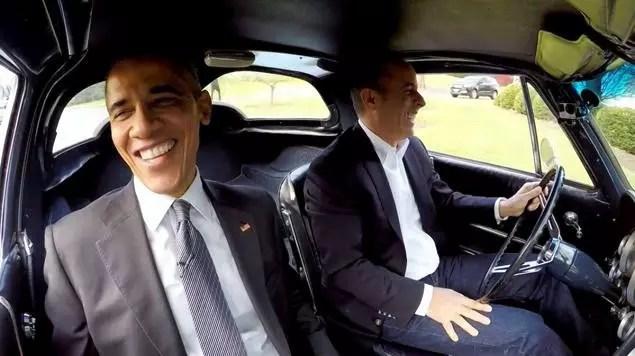 Obama: entrevista a bordo de clássico de Seinfeld