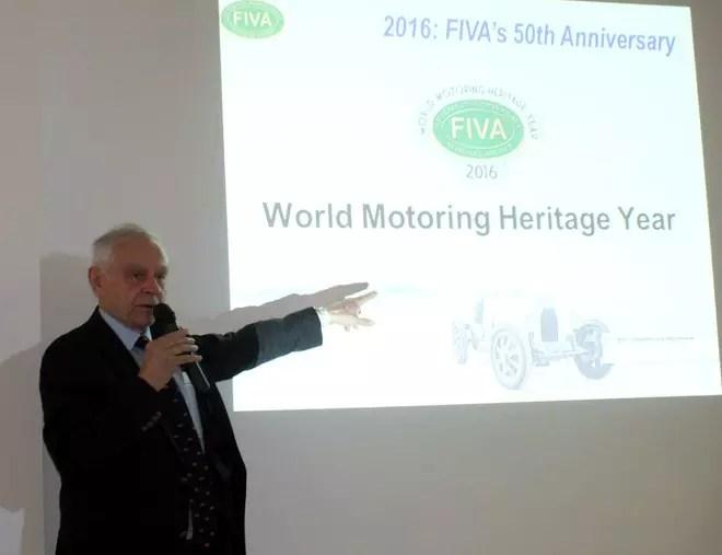 O Presidente da FIVA durante sua conferência
