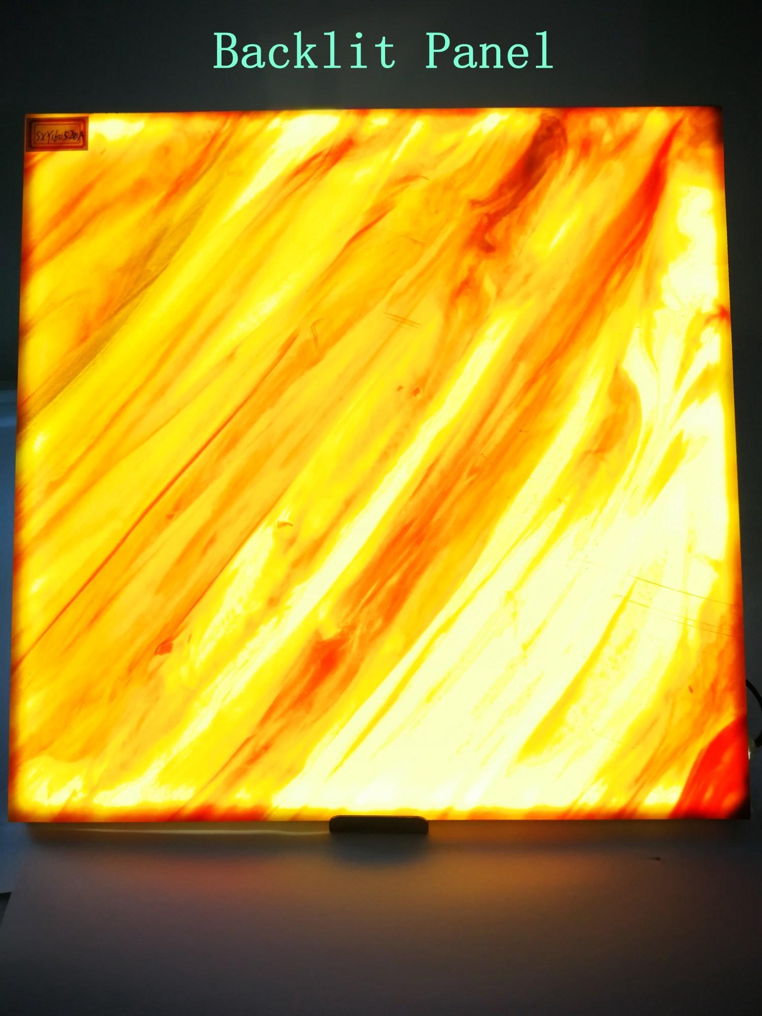 Backlit onyx stone