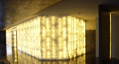 Light tube backlit Onyx Stone